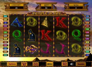 Temple of Isis Slots Screenshot